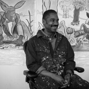 Portrait of artist John Bankston