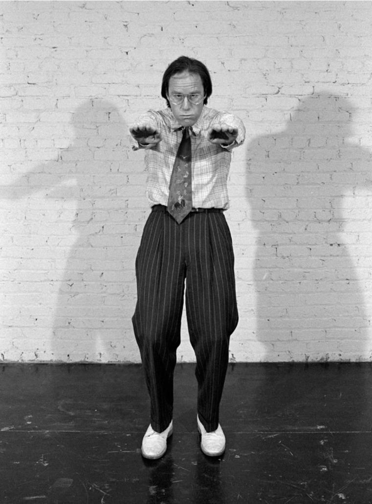 Black and white photo of Doug Hall