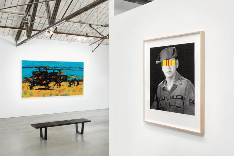 Gallery installation view of Rupert Garcia