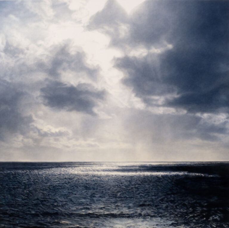 A water and sky seascape with dramatic clouds by Diane Andrews Hall