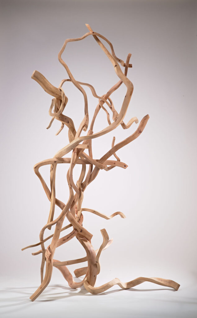 Carved wooden sculpture by Sam Perry