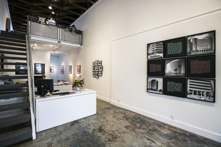 Gallery installation view of Doug Hall